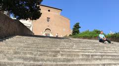 The Church of Santa Maria in Aracoeli, Rome (dolly 3) Stock Footage