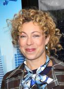 alex kingston.los angeles premiere of dreamworks animation's monsters vs. ali - stock photo
