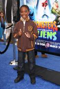 khamani griffin.los angeles premiere of dreamworks animation's monsters vs. a - stock photo