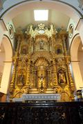 Golden altar panama city central america Stock Photos