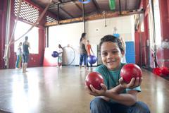 Kid facing the camera panama city central america Stock Photos