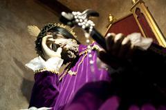 Famous caracter inside a church panama city central america Stock Photos