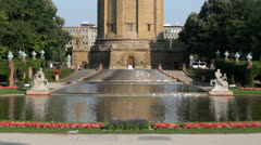 Mannheim water tower Stock Footage