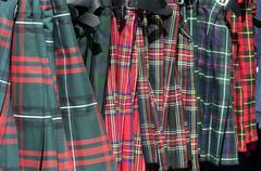 Kilts to sell edimburg scotland europ Stock Photos