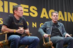 "nike sportswear and lance armstrong launches ""stages"" - stock photo"
