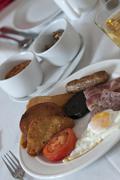 Stock Photo of powerful scotish breakfast inverness scotland europe