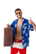 wealthy tourist - stock photo