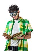Hard reading Stock Photos