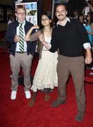 nick jasenovec, charlyne yi, jake johnson .los angeles screening of overture - stock photo