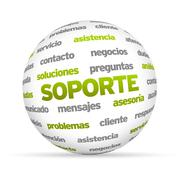 support word sphere (in spanish) - stock illustration