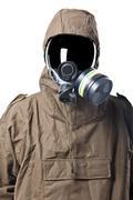 Portrait of a man in hazard suit Stock Photos