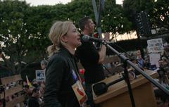 drew barrymore.prop8 march .held on santa monica blvd .west hollywood.califor - stock photo