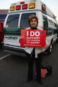 Stock Photo of gloria allred.prop8 march .held on santa monica blvd .west hollywood.californ