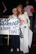kathy griffith, her mother.prop8 march .held on santa monica blvd .west holly - stock photo
