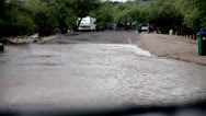 Stock Video Footage of Location 2 - Flash Flooding Rural Street neighborhood