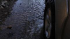 Vehicle Wheel Water Creek Stock Footage