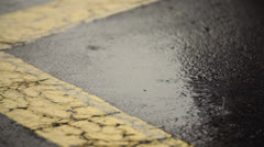 Rain Falling On Blacktop In Super Slow Motion 240fps Stock Footage