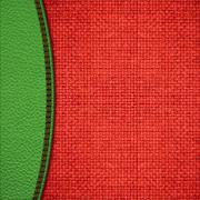 Stitched leather background Stock Illustration