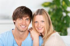 young smiling couple in love - stock photo