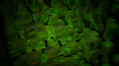 Spin green boxes Stock Footage