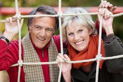 Onnellinen vanha pari Kuvituskuvat