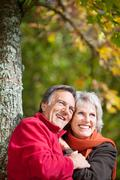 happy old couple - stock photo