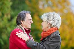 An old couple in love Stock Photos