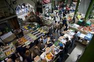 Stock Photo of panoramic view borough market london ingland