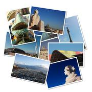Postcards from barcelona, spain Stock Illustration