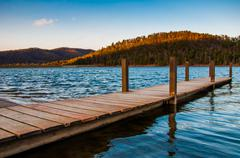 Small dock on lake arrowhead, near luray, virginia. Stock Photos