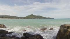 Andaman sea. the coast of thailand, phuket, kamala Stock Footage