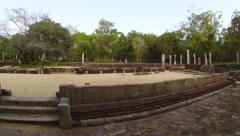 Ruins of an ancient buddhist temple in sri lanka, anuradhapura. Stock Footage