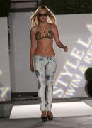 model.the style l.a. swim & resort runway fashion show .at the viceroy hotel - stock photo