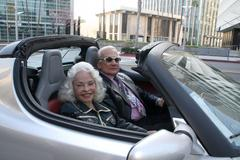 buzz aldrin, lois aldrin.super bowl xliii viewing party.spago.beverly hills.c - stock photo