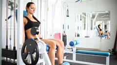 Legs training Stock Footage