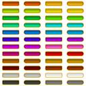 Stock Illustration of Glass buttons of various colors, set