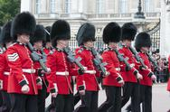 Stock Photo of changing of guard bukingham palace london