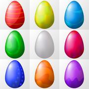 Easter eggs, set Stock Illustration