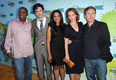 tim roth and lie to me cast.2009 tca summer tour - fox all-star party - arriv - stock photo