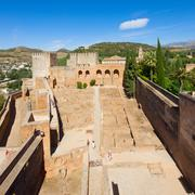 Alcazaba fortress in  alhambra, granada, spain Stock Photos