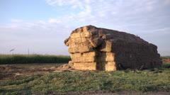 Hay on the farm Stock Footage