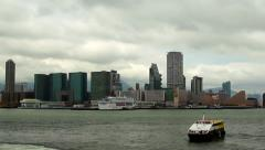 Time lapes Hong Kong, Kowloon, Victoria Harbour Stock Footage