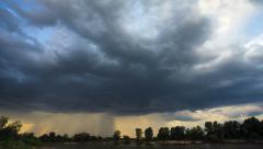 Rain clouds, rain starts. TimeLapse Stock Footage