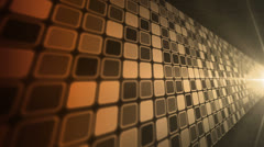 Mosaic Wall Amber Orange Stock Footage