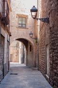 barcelona gothic quarter - stock photo