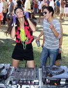 caroline d'amore and sister christi d'amore.ludacris foundation summer splash - stock photo