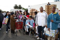"Stock Photo of ""the salvation army"" making miracle on south central."