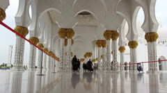 Sheikh Zayed Grand Mosque in Abu Dhabi (55) Stock Footage