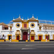the bull arena of seville, spain - stock photo