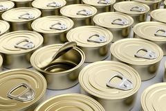 Tin cans Stock Illustration